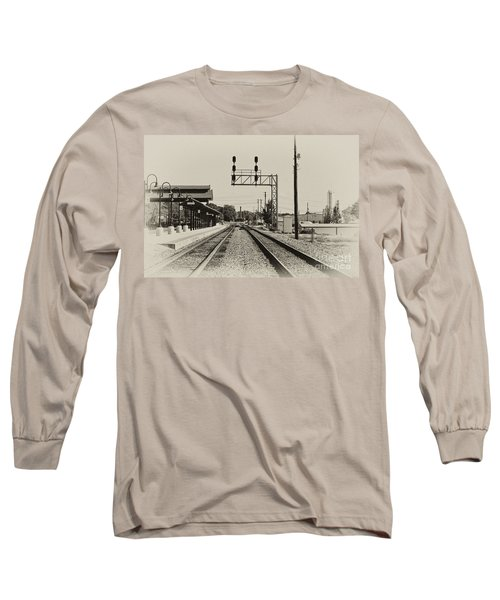 Salisbury North Carolina Depot Long Sleeve T-Shirt by Wilma  Birdwell