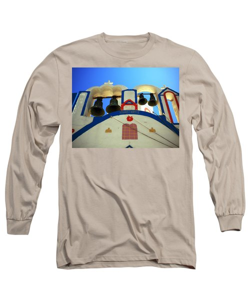 Long Sleeve T-Shirt featuring the photograph Santorini Thirasia Island Greece by Colette V Hera  Guggenheim