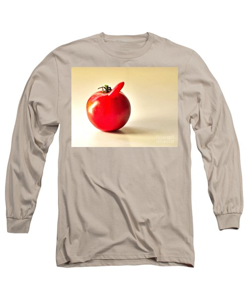 Long Sleeve T-Shirt featuring the photograph Saucy Tomato by Sean Griffin