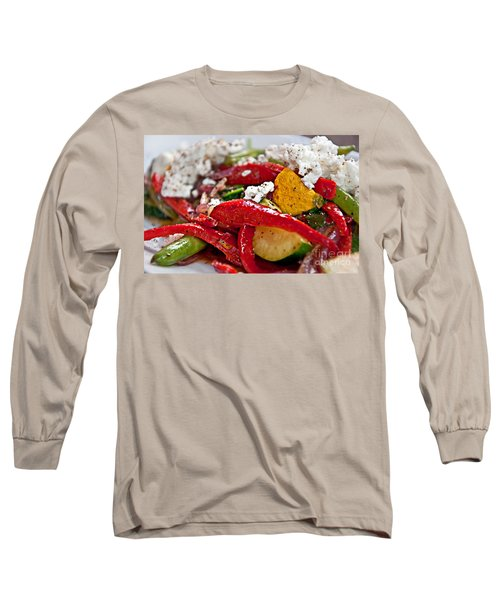 Sauteed Vegetables With Feta Cheese Art Prints Long Sleeve T-Shirt by Valerie Garner