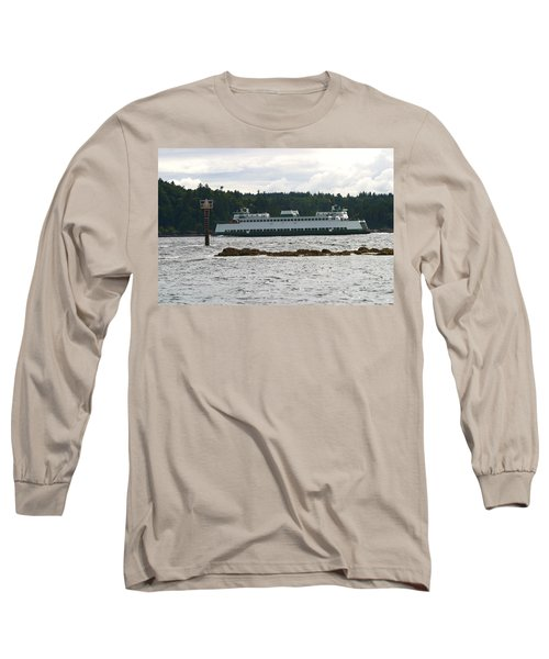 Long Sleeve T-Shirt featuring the photograph Sealth Ferryboat Rich Passage by Kym Backland