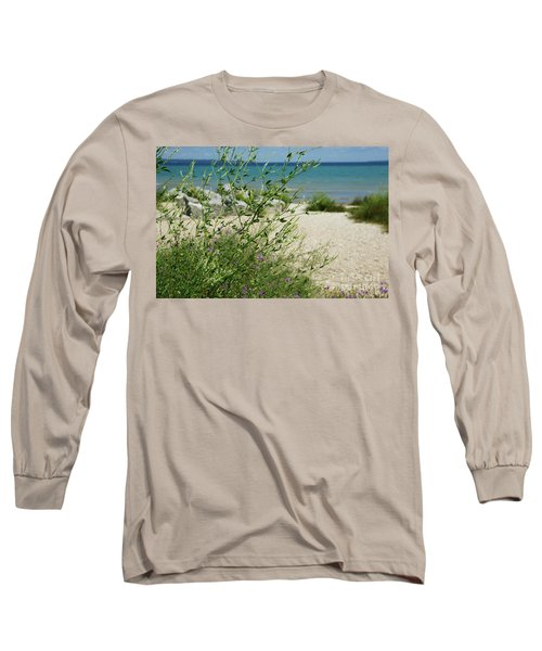 Shades Of Blue Long Sleeve T-Shirt by Linda Shafer