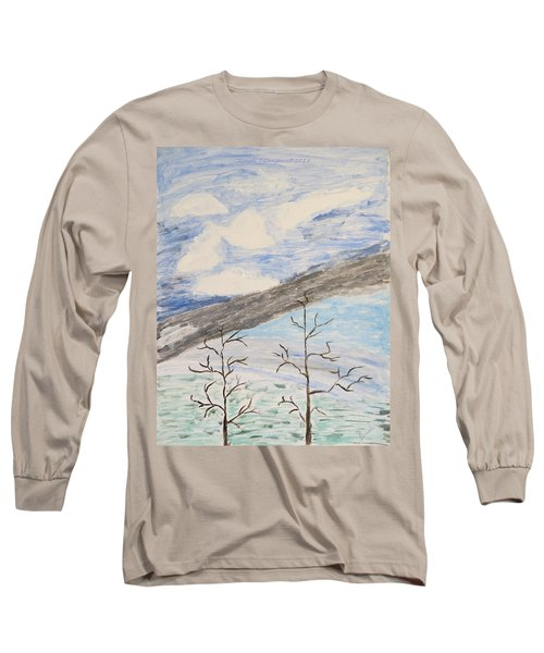 Long Sleeve T-Shirt featuring the painting Shades Of Nature by Sonali Gangane
