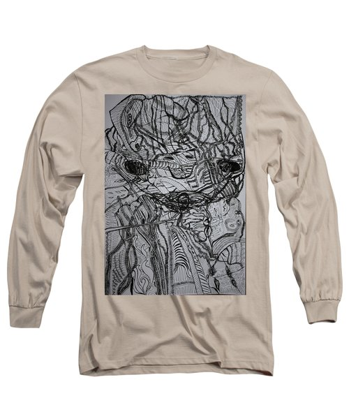 Long Sleeve T-Shirt featuring the drawing Shango by Gloria Ssali