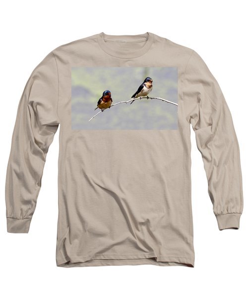 Long Sleeve T-Shirt featuring the photograph Sharing A Branch by Elizabeth Winter