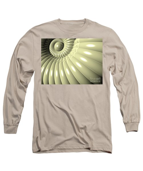 Long Sleeve T-Shirt featuring the digital art Shell Of Repetition by Phil Perkins