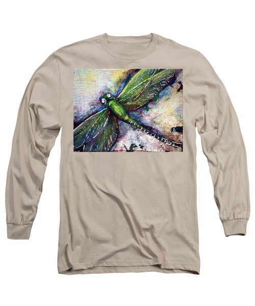 Silver Dragonfly Long Sleeve T-Shirt