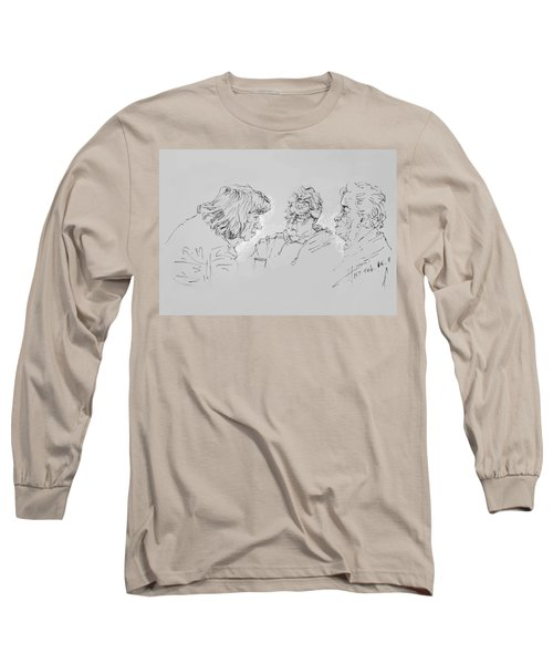 Small Talk  Over Coffee Long Sleeve T-Shirt