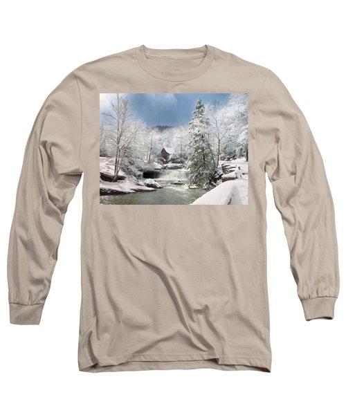 Snow At Babcock State Park Long Sleeve T-Shirt