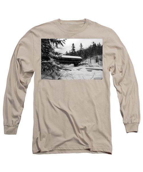 Snow Covered Bridge Long Sleeve T-Shirt