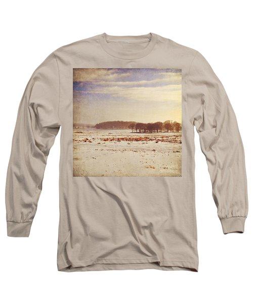Snowy Landscape Long Sleeve T-Shirt by Lyn Randle