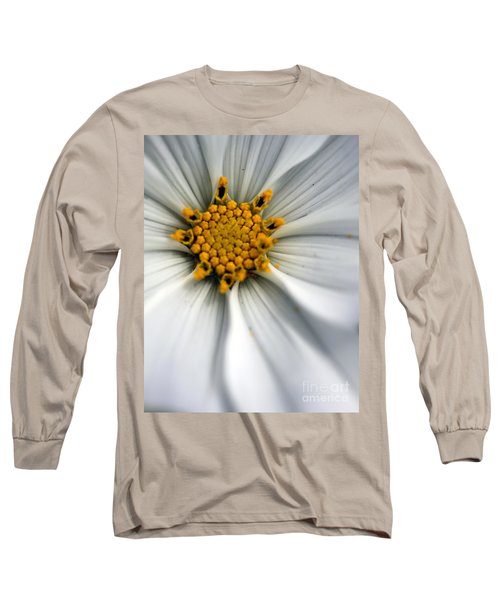 Long Sleeve T-Shirt featuring the photograph Sonata Cosmos White by Henrik Lehnerer
