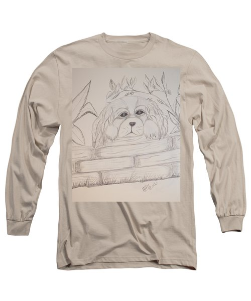 Spaniel Pup Long Sleeve T-Shirt by Maria Urso