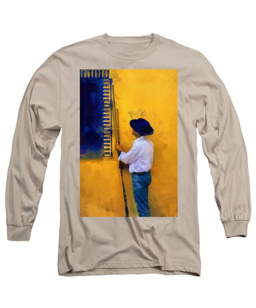 Spanish Man At The Yellow Wall. Impressionism Long Sleeve T-Shirt