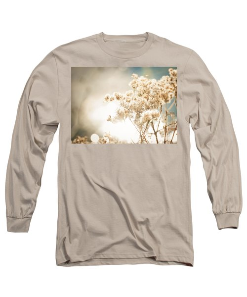 Long Sleeve T-Shirt featuring the photograph Sparkly Weeds by Cheryl Baxter