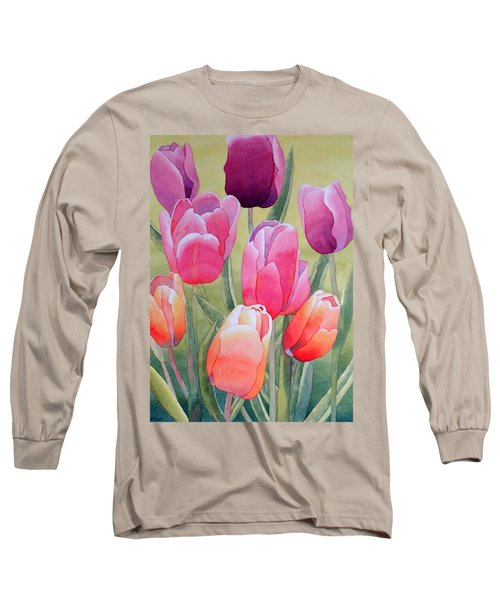 Long Sleeve T-Shirt featuring the painting Spring by Laurel Best