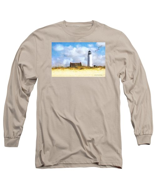 Long Sleeve T-Shirt featuring the photograph St. George Island Lighthouse by Rhonda Strickland