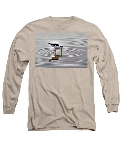 Long Sleeve T-Shirt featuring the photograph Black-necked Stilt by Tam Ryan