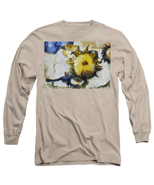 Sunflower Still Life Long Sleeve T-Shirt