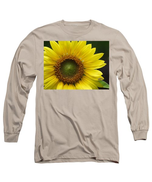 Long Sleeve T-Shirt featuring the photograph Sunflower With Insect by Daniel Reed