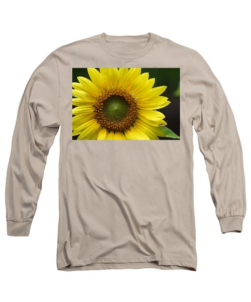 Sunflower With Insect Long Sleeve T-Shirt