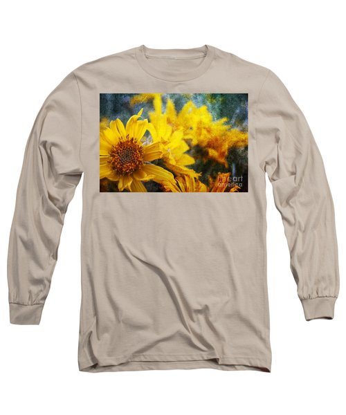 Sunflowers Long Sleeve T-Shirt by Alyce Taylor