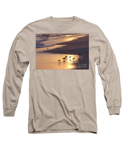 Long Sleeve T-Shirt featuring the photograph Sunset Beach by Nava Thompson