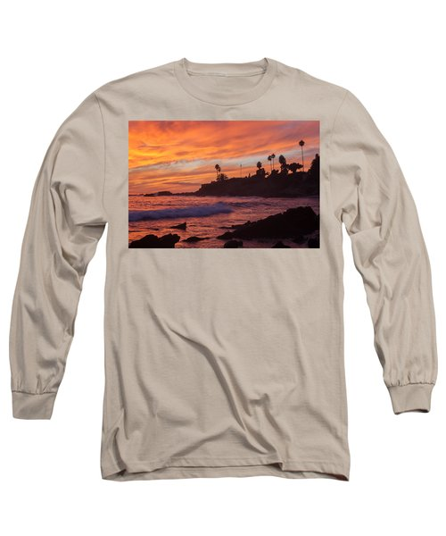 Sunset Off Laguna Beach Long Sleeve T-Shirt