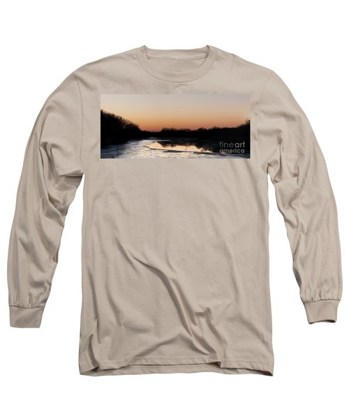 Sunset Over The Republican River Long Sleeve T-Shirt