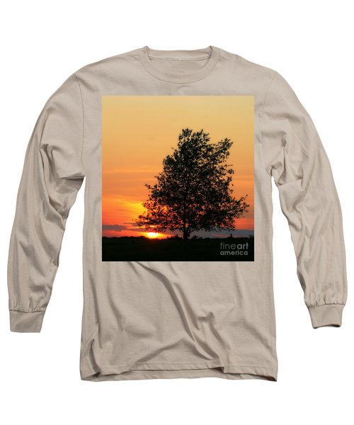 Sunset Square Long Sleeve T-Shirt by Angela Rath