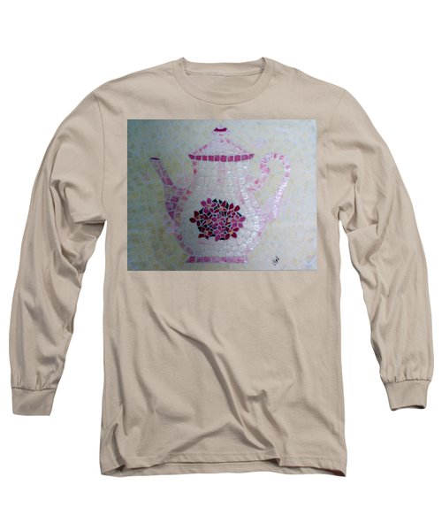 Long Sleeve T-Shirt featuring the painting Tea Pot by Cynthia Amaral