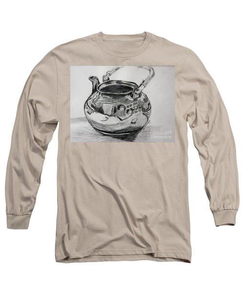 Teapot Reflections Long Sleeve T-Shirt by Jan Bennicoff