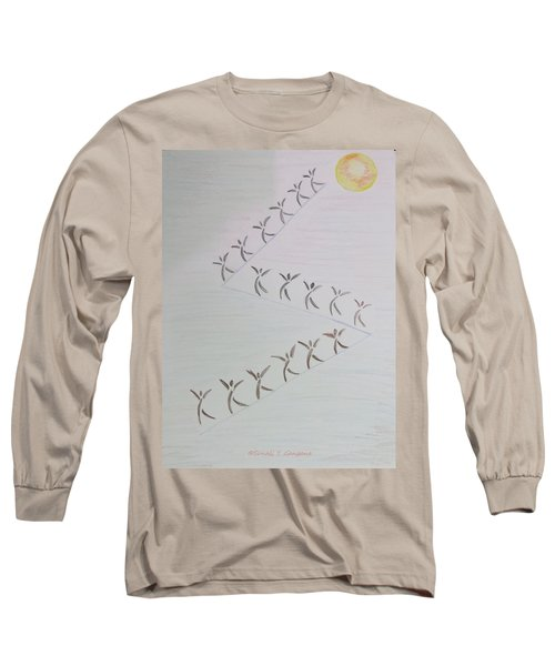Long Sleeve T-Shirt featuring the drawing The Ascent by Sonali Gangane