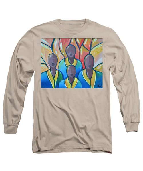 Long Sleeve T-Shirt featuring the painting The Choir by AC Williams