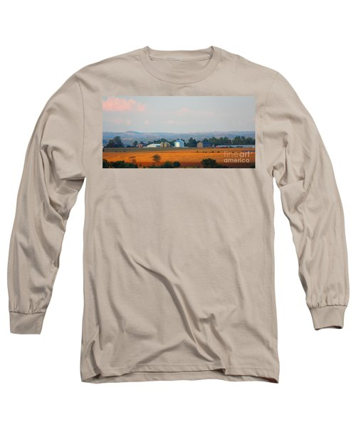 Long Sleeve T-Shirt featuring the photograph The Countryside by Davandra Cribbie
