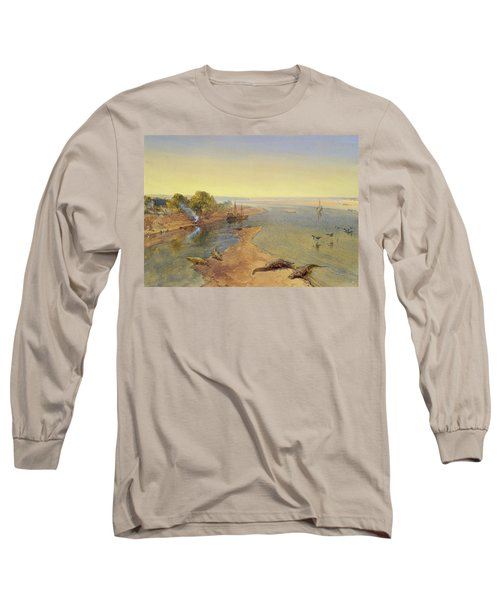 The Ganges Long Sleeve T-Shirt by William Crimea Simpson
