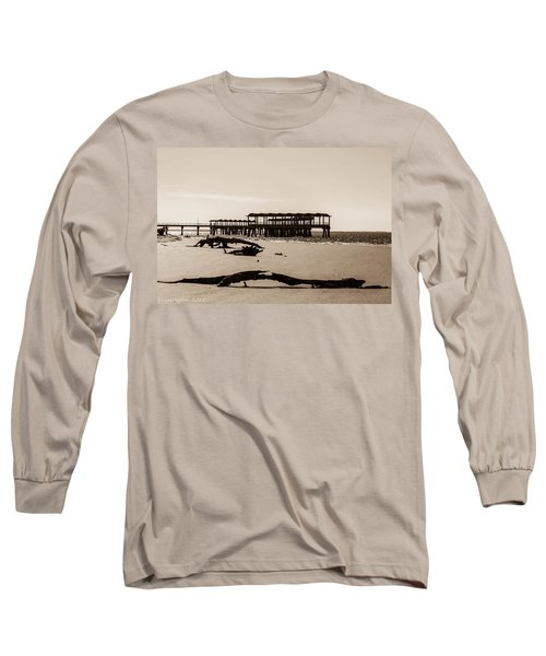 Long Sleeve T-Shirt featuring the photograph The Pier by Shannon Harrington