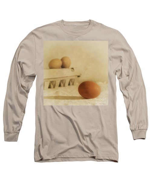 Three Eggs And A Egg Box Long Sleeve T-Shirt