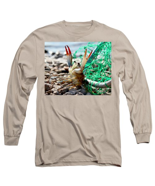 Crab Throw Me Something Mister Long Sleeve T-Shirt by Luana K Perez