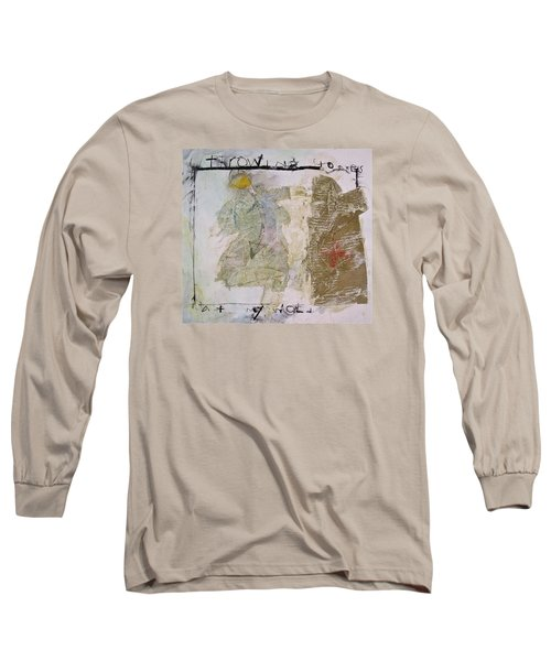 Long Sleeve T-Shirt featuring the painting Throwing Stones At My World by Cliff Spohn