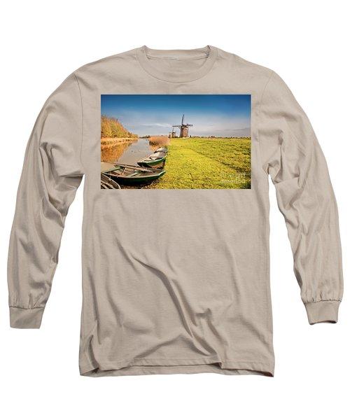 Traditional  Dutch Landscape Long Sleeve T-Shirt