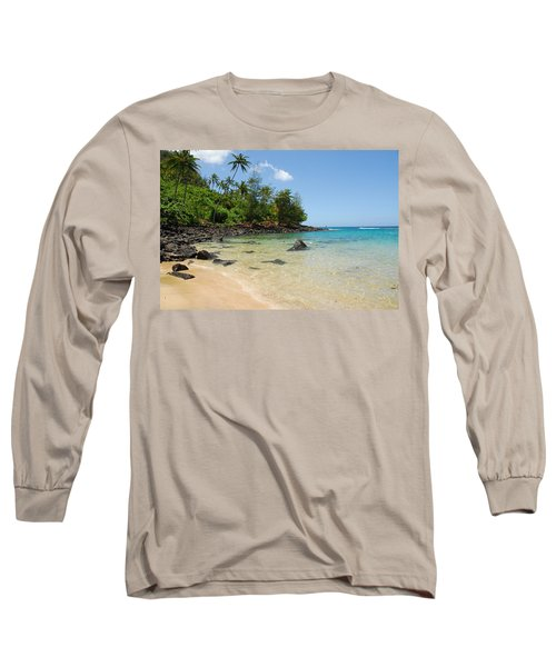Long Sleeve T-Shirt featuring the photograph Tropical Paradise by Lynn Bauer