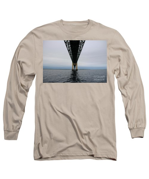 Under The Mackinac Bridge Long Sleeve T-Shirt