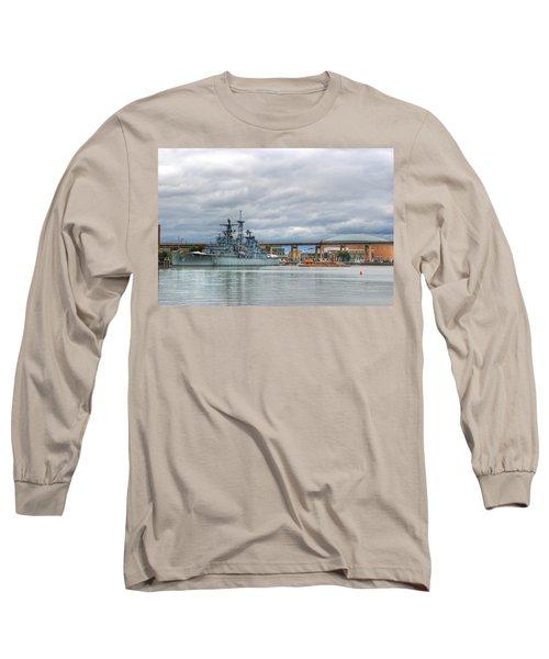 Long Sleeve T-Shirt featuring the photograph Uss Little Rock by Michael Frank Jr