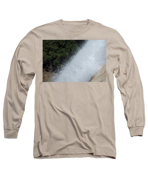 Vernal Falls On The Mist Trail At Yosemite Np Long Sleeve T-Shirt