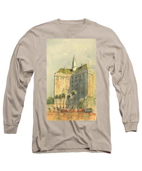Villa Riviera Another View Long Sleeve T-Shirt by Debbie Lewis