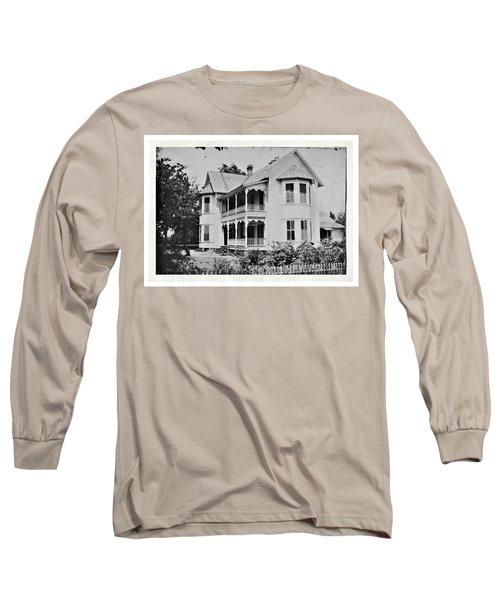 Vintage Victorian House Long Sleeve T-Shirt by Susan Leggett
