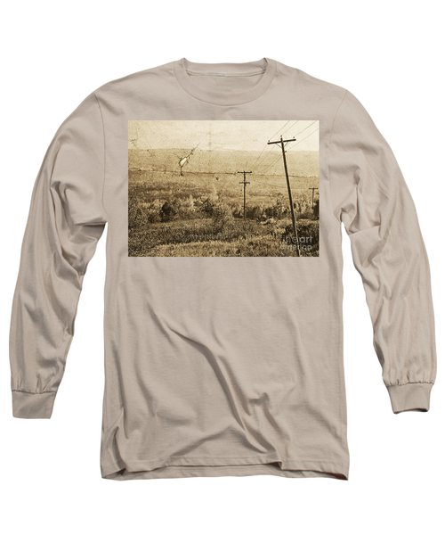 Vintage View Of Ontario Fields Long Sleeve T-Shirt
