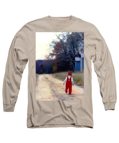 Walking On Pawpaw's Road Long Sleeve T-Shirt