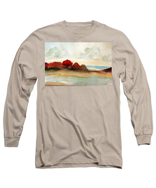 Watercolor Bay Long Sleeve T-Shirt